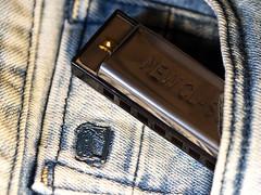 Mundharmonika (ingrid eulenfan) Tags: macromondays memberschoice musikinstrument mundharmonika jeans hose musik makro macro