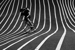 Getting out of line (Birdhouse camper) Tags: copenhagen denmark lines bicycle street fujifilm fujixt2 fuji xt2 blackandwhite blackwhite