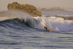 Brittany surf (Danny Bastiaanse) Tags: brittany surf surfer sunset light reef rocks longboard epic swell surfing