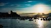 Sunset in Lerici, Italy (BalintL) Tags: sunset lerici italy sea mediterranean sky blue orange autumn silhouette