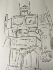 optimus (timp37) Tags: sketch drawing optimus prime transformers 2017 november
