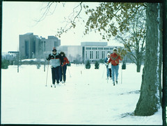 Skiing  on campus