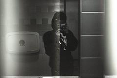 //オレ (astroboyracerx) Tags: fujica fuji blackandwhite bw monochrome monochomatic bnw noir c41 film 35mm 35mmfilm pushprocessing pushed fujicagp gp bathroom mirror selfportrait reflection analog analogfilm analogphotography