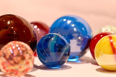 Marbles (AngharadW) Tags: spheres brown red yellow green blue le dof angharadw macromonday monday macro marbles gamesorgamepieces