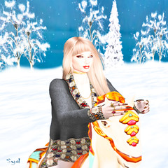 Emotional Rollercoaster ♪ ♬ (Sydney Levee) Tags: horse jouet cheval play snow émotion girl secondlife virtual trees winter neige nature addicted