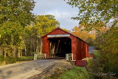 The Red Covered Bridge (david.horst.7) Tags: bridge barn coveredbridge rural fall scenery road