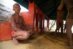 Coach and Pehlwans (Bradbury Lense) Tags: akharas exercise gym india kushti training weightlifting wrestler wrestling