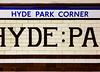 Hyde Park Corner (Meredith Lewis) Tags: londonunderground stripe hydeparkcorner gb greatbritain greaterlondon unitedkingdom tiles sign london piccadillyline undergroundstation station stripes england britain wall europe uk tiled