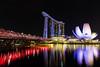 Singapore by night (coalphotography) Tags: 2017 asia destination longexposure november singapore travel cityscape skyline bridge skycraper dusk city marinabay streetlight downtowndistrict financialdistrict hotel singaporeriver marinabaysands