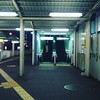 night station (troutfactory) Tags: asuszenfone3 大阪府 関西 日本 osaka kansai japan digital 蛍池駅 hotarugaikestation escalator fluorescentlight night moody square instagramfilter