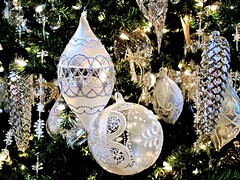Silver Bells (Bennilover) Tags: rogersgardens gifts ornaments silver bauble bells decorations christmastrees christmas decorating