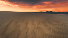 Eon of Solitude (David Colombo Photography) Tags: deathvalley california nationalpark sand dunes sanddunes nikon d800 davidcolombo davidcolombophotography landscape sunset vibrant color mountains outdoor clouds sky sandy