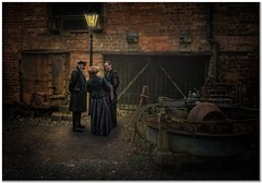 The meeting (Hugh Stanton) Tags: composite twilight foundry works machinery