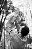 Kulbiccy Family: Baby in the air, part II (mkarwowski) Tags: ef50mmf18stm stm f18 50mm ef canonef50mmf18stm eos80d canoneos80d 80d eos canon outdoor bokeh father child family people portrait park baby blackandwhite monochrome