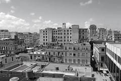 Havana rooftops (Den Gilbert) Tags: cuba havana hotel hotelambosmundos ernesthemingway author blackwhite mono photography landscapeskyline roofs sky