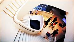 Escalier du Stedelijk Museum 's-Hertogenbosch, Brabant-Septentrional, Pays-Bas (claude lina) Tags: claudelina canon paysbas hollande holland nederland brabantseptentrional shertogenbosch boisleduc musée museum stedelijkmuseum stedelijkmuseumshertogenbosch stairs escaliers