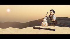 Your antenna's bent (Minifigure Mike) Tags: bb8 lego minifig minifigure starwars toyphotography toys httpphotographerbrisbanecom panasonicgx8 olympusmzuikodigitaled12100mmf40ispro rey jakku desert
