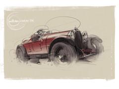 Bugatti T38 s (Stefan Marjoram) Tags: sketch drawing ipad pro procreate apple pencil car vintage racing plein air
