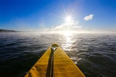 Just chilln' on the river... (deanspic) Tags: canoe canoeing hybrid paddle paddling mist sun sunburst chop waves wind lakestlawrence november vfmc
