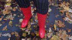 PA150007 (Axelweb) Tags: chubby bbw girl lady female rainwear raincoat pvc shiny wellies rubber boots gas mask plastenky holinky rainsuit rain suit plastic wellington gumboots galoshes gummi