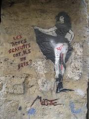 Miss Tic (emilyD98) Tags: street art insolite rue artist artiste urban urbaine urbain exploration installation mur wall pochoir stencil miss tic paris