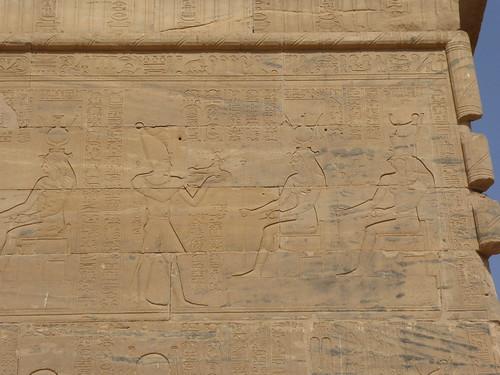 Offerings before Isis & Horus, Temple of Isis, Philae