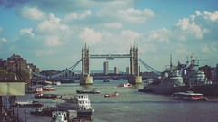 Colour on the Thames (RP Major) Tags: london uk england thames river olympusepm2 clouds tower bridge warship boats hms belfast