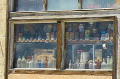 Collection in the window (1 of 2) (jimsawthat) Tags: junk collection window downtown abandoned decay smalltown shoshoni wyoming