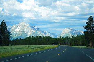 Teton Range from Hwy 89, Grand Teton NP, USA