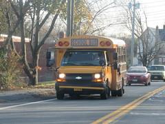First Student #665 (ThoseGuys119) Tags: firststudentinc pinebushny schoolbus thomasbuilt minotour whitetop 2017