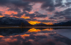 Sunrise in Alberta (Robert R Grove 2) Tags: sunrise alberta ice mountains clouds landscape colorful robertrgrove