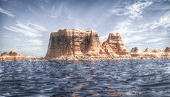 Alien Landscape (November 2017 #3) (Lazlo Woodbine) Tags: 3d blender model modelling landscape terrain mapping lake water seascape november 2017 learning skills hdr luminancehdr lightroom photoshop manipulation digitalart art arty fake notquitethere rocky rockys desert