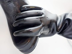 Cleaning Time (essex_mud_explorer) Tags: uniroyal century uniroyalcentury black rubber thigh boots waders thighboots thighwaders hip watstiefel gummistiefel rubberboots rubberwaders bottes rubberlaarzen stivali