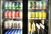 Drinks fridge with beer (A. Wee) Tags: nadi airport fiji 斐济 tabuaclub lounge 机场