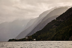 Mountains with the fog in Norwegian fjords (Sergey_pro) Tags: norwegian scenic fog landscape mist mountain nature nordic north norway fjord ocean outdoor panorama rock scandinavia arctic sea summer view water harbor house bay blue coast sky sun sunrise sunset europe village