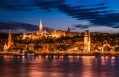Blue hour (Vagelis Pikoulas) Tags: blue hour long exposure budapest buda danube river hungary september autumn 2017 colors landscape city cityscape canon 6d tokina 1628mm