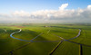 Shaping the Landscape (Dani℮l) Tags: groningen adorp verkaveling landschap nederland netherlands holland danielbosma green pasture meadow agriculture sky clouds aerial luchtfoto drone bend curve river flow water settlement dorp middaghumsterland schaduw shadow weiland boerderij farm farming
