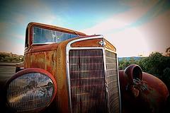 one headlight... (woodwork's) Tags: oneheadlight thewallflowers brooksca sekahills international rust crust 1932