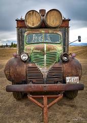 Vintage Dodge Flatbed Truck (SonjaPetersonPh♡tography) Tags: dodge nikon nikond5600 truck vehicle old rust rusty rustic vintage classic oregon centraloregon madras country farm oldtruck dodgetruck