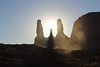 Three Sisters sunset (gorbould) Tags: 2017 monumentvalley navajotribalpark threesisters usa utah america butte buttes evening southwest sunset