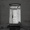White Door, Oakland, Oregon (austin granger) Tags: door oakland oregon whitedoor evidence decay time impermanence steps architecture brick design geometry film gf670