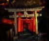 Kyoto Path (Stuck in Customs) Tags: japan kyoto rcmemories 80stays treyratcliff stuckincustoms stuckincustomscom aurorahdr hdr hdrtutorial hdrphotography hdrphoto gate red path pathway night