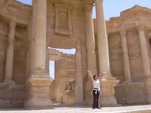 Waltrauds Auftritt im römischen Theater von Palmyra
