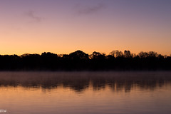 Fog on the Merrimack (MikeWeinhold) Tags: merrimackriver lowell fog yellow purple dawn