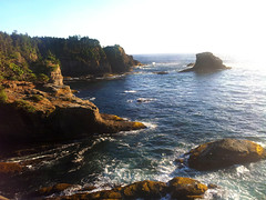 Washington Coast (Nikki Cleveland) Tags: rock coast water ocean cliff sky bay sea landscape capeflattery cape washington wa washingtonstate pacificnorthwest pacific northwest pnw view waves pacificocean