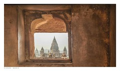 View through fort window, Raja Mahal, Orchha, India. (Richard Murrin Art) Tags: viewthroughfortwindow rajamahal orchha india richard murrin art photography canon 5d landscape travel images building cool