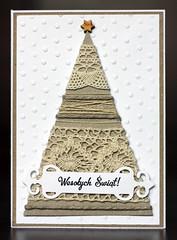 IMG_4814 (piechot) Tags: christmas xmas tree eco kraft paper hand lace greeting card handmade maremi