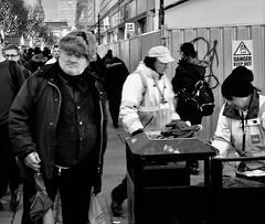 nice hat (LozHudson) Tags: manchester blackwhite mono monochrome blackandwhite x100s fuji fujifilmx100s people hats hat