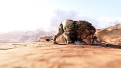 Survival | Assassin's Creed Origins (CHRISinSESSION) Tags: 4k games game screenshots screenshot gamescreenshots gamescreens digital art realism beautiful virtualphotography videogames screencapture societyofvirtualphotographers assassins creed origins ubisoft bayek photomode ancient egypt dog animal sky sand grass