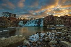 The Falls (HomeGroenPhotography) Tags: siouxfalls southdakota fallspark waterfall sunset aarongroen canon